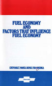 Fuel Economy and Factors that Influence Fuel Economy
