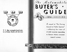 The Automobile Buyers Guide 1934 Edition