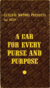 General Motors Presents For 1939 - A Car For Every Purse And Purpose