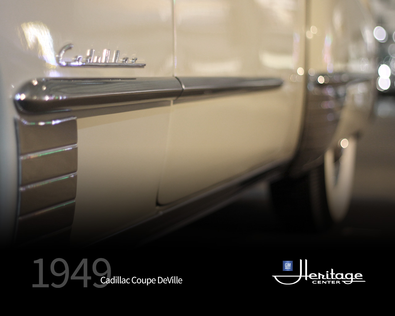 Gm Heritage Center Collection 1949 Cadillac Coupe Deville V8 Engine Download Wallpaper