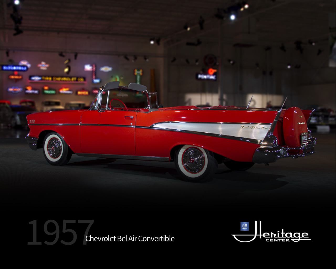 Gm Heritage Center Collection 1957 Chevrolet Bel Air Convertible Chevy Colors Download Wallpaper