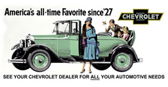 Purchase a Chevrolet Vintage 1929 Metal Sign