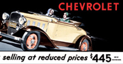 Purchase a Chevrolet Vintage 1932 Metal Sign