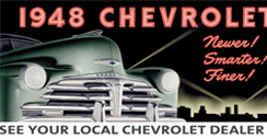 Purchase a Chevrolet Vintage 1948 Metal Sign