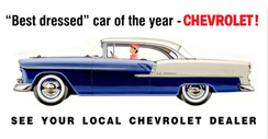 Purchase a Chevrolet Vintage 1955 Metal Sign