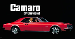 Purchase a Camaro Vintage 1967 Metal Sign (Red)
