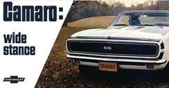 Purchase a Camaro Vintage 1967 Metal Sign (White)