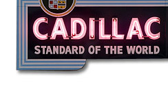 Purchase a Neon Cadillac Dealer Sign