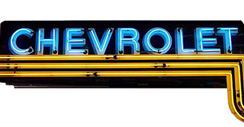 Purchase a Chevrolet Horizontal Neon Dealer Sign
